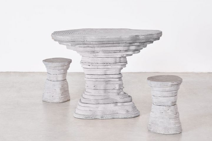 3D Urmia table and stools
